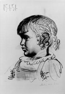 picasso-portrait-of-child-1951